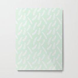 Winter Evergreen Light Green Metal Print