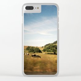 Sonoma cows Clear iPhone Case