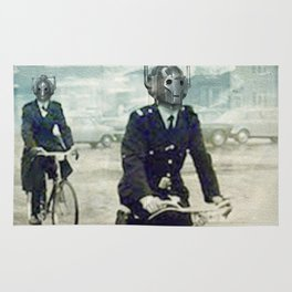 Cybermen on bikes Rug