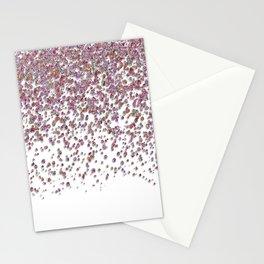 Sparkling rose quartz glitter confetti - Luxury design Stationery Cards