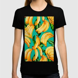 Banana Pattern Texture T-shirt