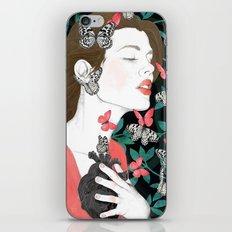 Butterflies // you make my heart flutter iPhone Skin