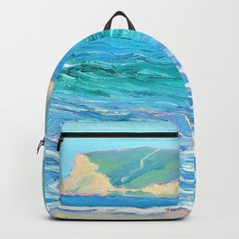 Seascape with distant headlands - Louise Upton Brumback Backpack
