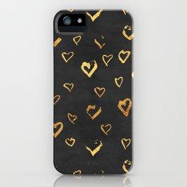 golden hearts iPhone Case