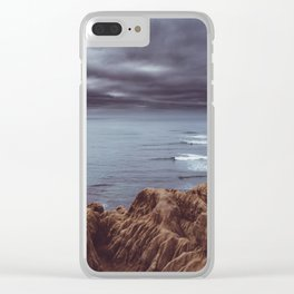 Sunset Cliffs Storm Clear iPhone Case