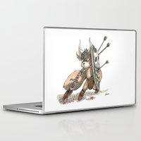 bouletcorp Laptop & iPad Skins featuring Écureuil Barbare by Bouletcorp