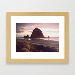 Cannon Beach Sunset Framed Art Print