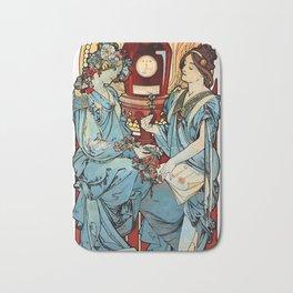 "Alphonse Mucha ""Bénédictine"" Bath Mat"