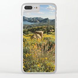 Arizona Spring Mountain Bloom Clear iPhone Case