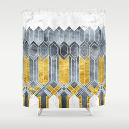 Turtle Shell Geometric | Art Deco Shower Curtain
