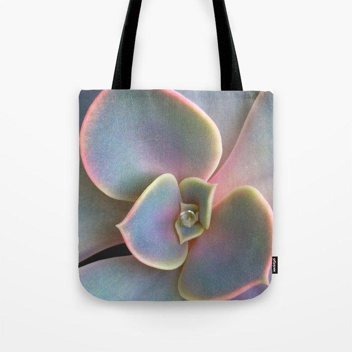 Succulent Dew Drop Tote Bag