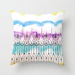 Pitter Pattern 4 Throw Pillow