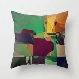 Patchwork of Color Throw Pillow