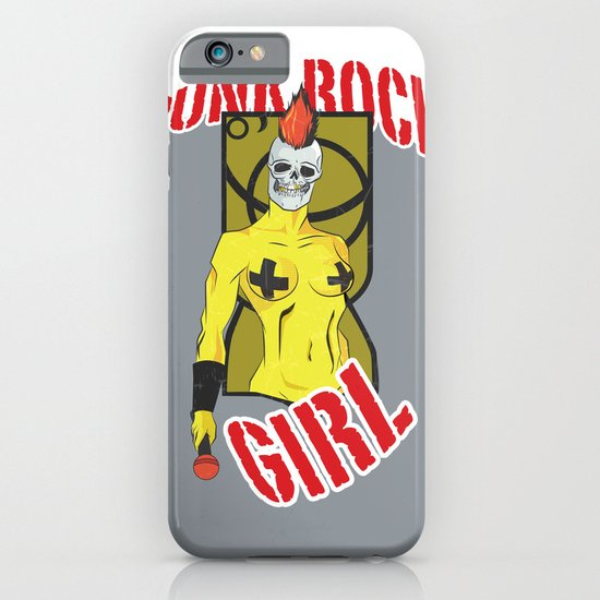 Punk rock Girl iPhone & iPod Case