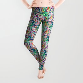 JUNE POLICHROME ~BASILICO VERDE~ Leggings