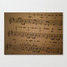 Music Tabs Canvas Print