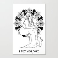 psychology Canvas Prints featuring Psychology by Verdant Winter