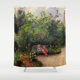 "Camille Pissarro ""Jardin de l'Hermitage"" Shower Curtain"