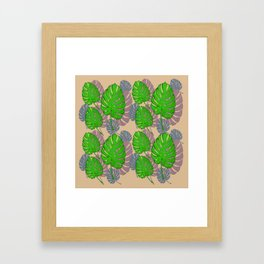 Tropical Leaf Design Framed Art Print