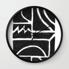 Charcoal Pattern Wall Clock