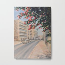 Eilat street Tel aviv_ Oil on canvas Metal Print