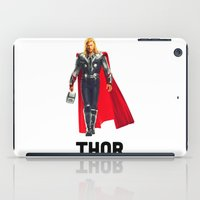 thor iPad Cases featuring Thor by Marianna