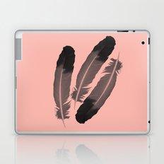 Pink & Feather Laptop & iPad Skin