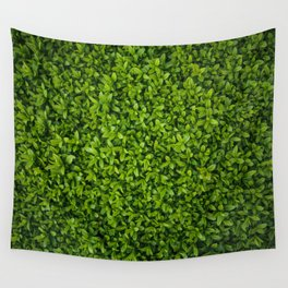 Green Leaves Pattern Wall Tapestry