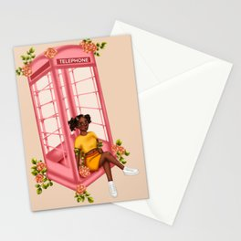 Blooming Telephone Box Stationery Cards