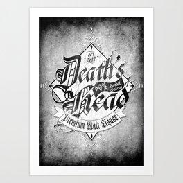 Death's Head Liquor Art Print