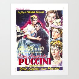 Vintage Art Deco pre 1920's Theatre Play Poster Style Movie Puccini Art Print