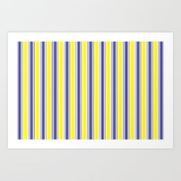 Complementary Series: 1. Purple and Yellow Gradient Art Print