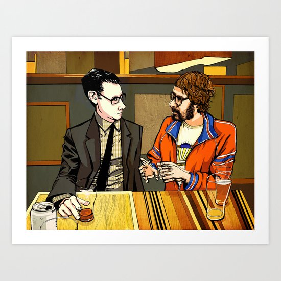 A Conversation About Acid at a Bar With No Name Art Print