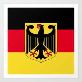Germany flag emblem Art Print