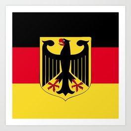 Germany flag emblem Art Print