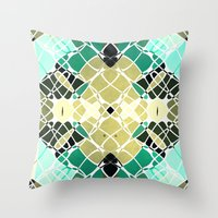 snake Throw Pillows featuring Snake by SensualPatterns