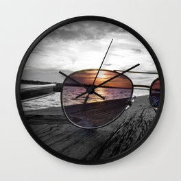Sunset Perspective Wall Clock