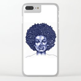 Spiral Afro Clear iPhone Case