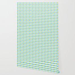 AZTEC, GREEN AND BLUE Wallpaper