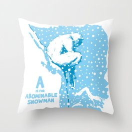 A is for Abominable Snowman Throw Pillow