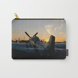 P-51 Mustang Sunset at Oshkosh Carry-All Pouch