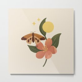 Alissa - Flower, butterfly and energy Metal Print