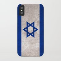 israel iPhone & iPod Cases featuring Israel Flag (Vintage / Distressed) by Stado Art