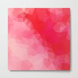 """Red queen"" geometric design Metal Print"