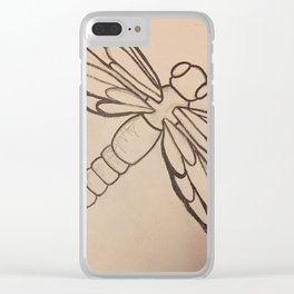 Dragonfly freedom Clear iPhone Case