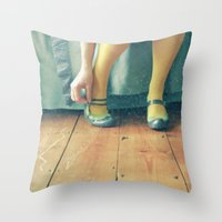 good morning Throw Pillows featuring Good Morning by Cassia Beck