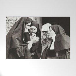 Nuns Smoking Welcome Mat