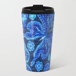Butterflies - Distressed - Bright Travel Mug