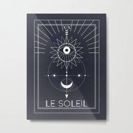 Le Soleil or The Sun Tarot Metal Print
