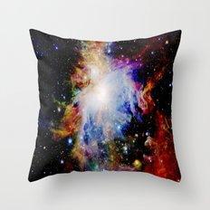 GaLaXY : Orion Nebula Dark & Colorful Throw Pillow